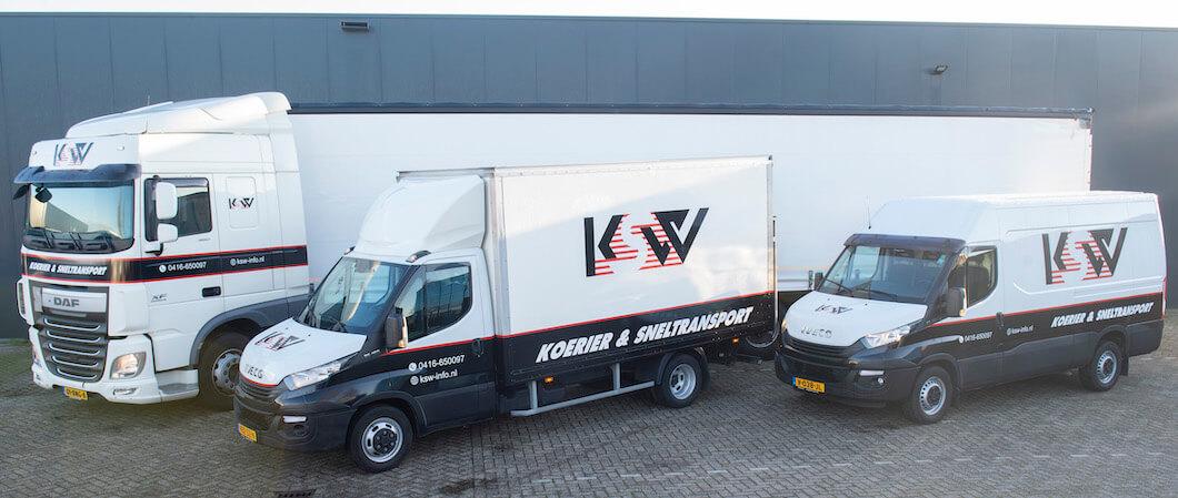 Enkele sneltransport voertuigen van KSW
