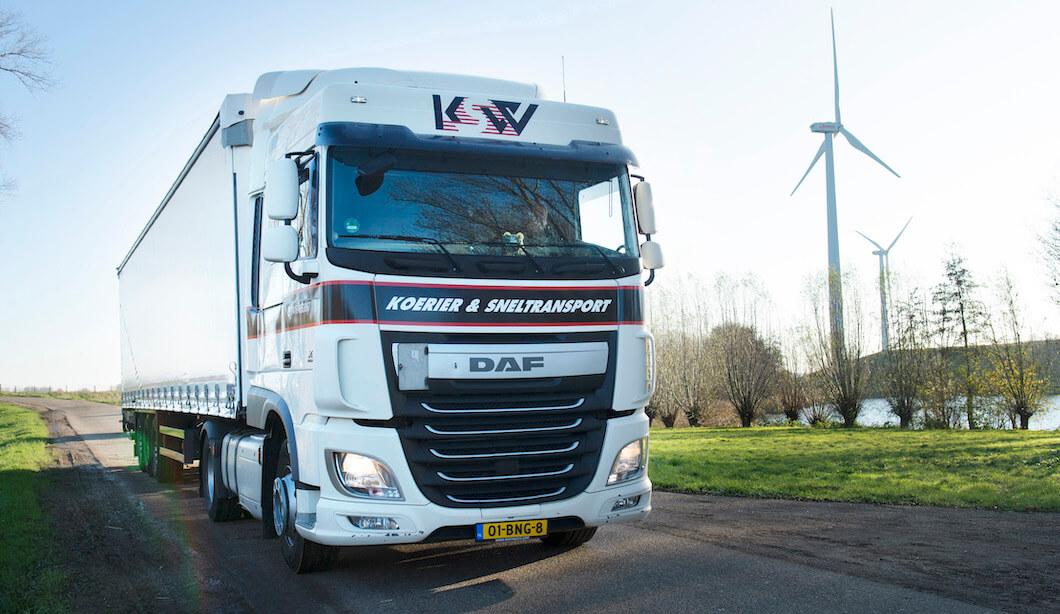 Een vrachtwagen van KSW
