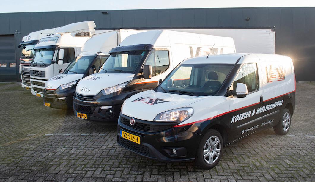 KSW voertuigen voor nationaal en internationaal transport